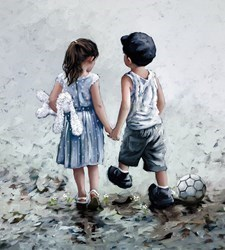 Small Talk by Keith Proctor - Limited Edition on Canvas sized 18x20 inches. Available from Whitewall Galleries